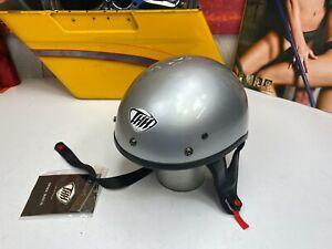 🔥THH T-70 Half Shell Cruiser Street Bike Motorcycle Helmet Silver X-Large🔥
