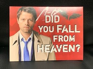 Supernatural Autographed of Misha Collins Valentines day Card