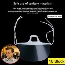 10x Mund Nasen Visier Mund schutz transparent Mouth Guard für Restaurant Food