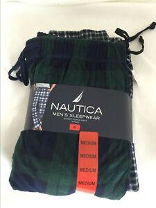 Nautica Men's Sleepwear 2 Pack Sueded Fleece Lounge/Pajama Pants