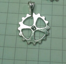 """TIBETAN SILVER """"WATCH COGG """"(1.5CM )  PENDANT ON 18""""or 20""""INCHES CHAIN  NECKLACE"""