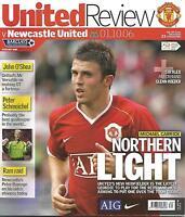 Football Programme - Manchester United v Newcastle United  Premiership - 1/10/06