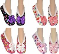 CO-ZEES SOFT LADIES SHERPA {HEARTS SLIPPERS WINTER 4 COLOUR SIZE UK 4-7 EU 37-41