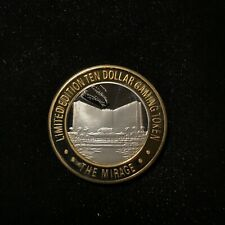 $10 .999 SILVER THE MIRAGE LAS VEGAS LIMITED EDITION CASINO TOKEN Lot#AA38