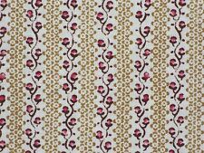 Laura Ashley LA1187 PIPPA Mini Floral 408 BUTTERNUT Burgundy Red Drapery Fabric