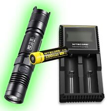 Nitecore P12 XM-L2 LED Flashlight 2015 Version w/D2 Charger & 2300mAh 18650