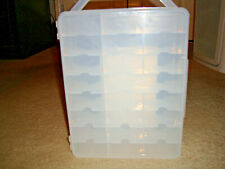 Ho Slot Car (Aurora, Tyco, T-Jet, Afx, Other) 48 Compartment Storage Case New!