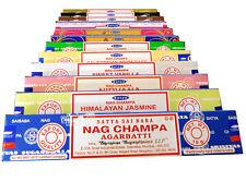 Räucherstäbchen Sparset 12x Satya Nag Champa, zufällige Düfte a 15g, Agarbatti