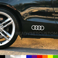 2x Audi Rings Logo Side Decal Stickers - A1 A3 A4 A5 A6 S3 S5 TT Q5 Q7 R8