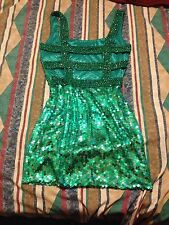 Emerald beaded sequence party or homecoming dress