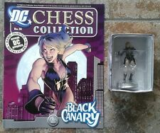 DC Chess Collection #16 Black Canary White Pawn Resin Figure & Magazine