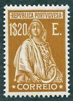 PORTUGAL 1926 1E.20 yellow-brown SG719 MH FG Ceres redrawn no imprint below#W40