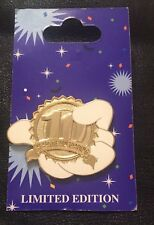 Disney Pin 75779 DLR~10th Anniversary of Pin Trading~Golden Logo~LE 500~Mickey