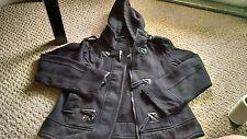 Sebby black fleece jacket juniors medium M