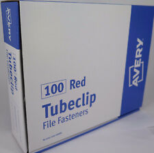 Avery TUBECLIP File Fasteners 100pack Red 44009R