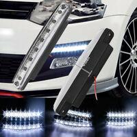 2pcs Super Bright 8 LED Car Daytime Running Light DRL Fog Day Driving LAMP 12V