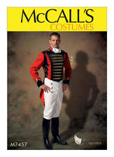 McCall's Sewing Pattern M7457 Men's Military Jacket Pull-on Pants Cravat 34-52