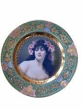 Antique Royal Vienna Porcelain Hand Painted Portrait Plate