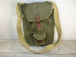 Vtg Army Canvas Satchel Musette Military Messenger iPad Safari Field Bag Pack
