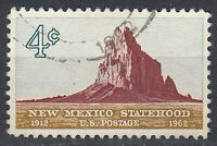 USA Briefmarke gestempelt 4c New Mexiko Statehood 1912 - 1965 Rundstempel / 1809