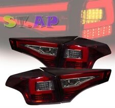 2013-2014 Toyota Rav4 Led Brake Tail Light Signal Lamp Kit 2Pc Smoke Red