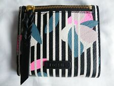"Dark Floral Leather RFID Protected Wallet/Purse Caroline Mini by ""FOSSIL"" BNWT"