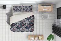 3D Japanese Wave Sakura Quilt Cover Sets Pillowcases Duvet Comforter Cover FC