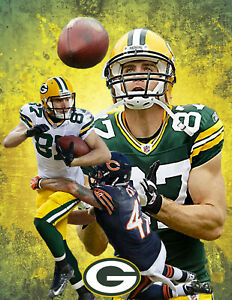 Green Bay Packers Lithograph print of Jordy Nelson