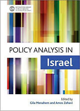 Policy Analysis in Israel (International Library of Policy Analysis), Very Good,