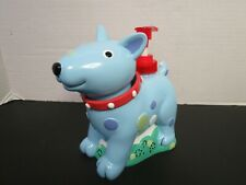 Jenny & Jeff Blue Red Bobble Head Dog Soap Lotion Dispenser