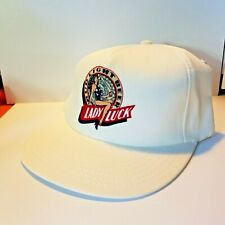 Budweiser Bud Light Hat Cap White Lucky Lady Flat Brim Snap Back NOS