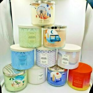 Bath and Body Works Spring / Summer 2021  3 Wick Candles