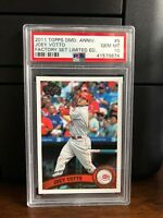 2011 Topps Diamond Anniversary Set Joey Votto Baseball Card #5 PSA 10