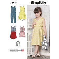 SEWING PATTERN! MAKE GIRLS DRESS~SHORT OR LONG JUMPSUIT~BAG! SIZE 3-8! SUMMER