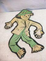 Vintage  Luhrs Embossed Die Cut Paper Scare Crow Halloween Decoration