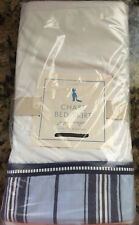 New/NIP Pottery Barn PB Kids Chase /Harper Crib Skirt blue white strip nautical