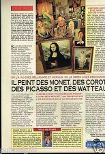 Coupure de presse  Clipping 1993 (1 page) Peintre Jacques Harvey