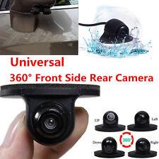 2x 360° Car Side View Mount Blind Spot Camera Reverse Parking Aid Kit Waterproof