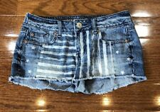Womens Size 2 American Eagle Outfitters Denim Casual Jean Shorts Stars & Stripes