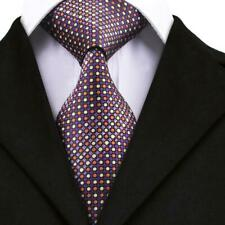 Classic Tie Blue Red Brown Paisley Floral Striped Silk Single Necktie Wedding