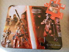 Disney's Star Wars THE FORCE AWAKENS Tin Lunch Box + 100 piece puzzle Brand New!
