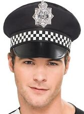 FANCY DRESS Policeman Hat Peak Cap Police Costume Accessory Cop Realistic Fun