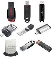 SanDisk 32GB 64GB 128GB 256GB 16GB USB 3.0 Flash Drive Ultra Fit Memory Stick