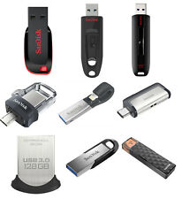 SanDisk 16GB 32GB 64GB 128GB 256GB USB 3.0 Flash Drive Ultra Fit Memory Stick