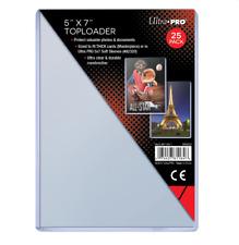 (25) Ultra Pro 5 x 7 Topload Card Holders 5x7 Photo Postcard Toploaders Archival