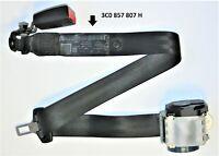 VW Passat Mk6 B6 Seat Belt For Rear Middle Seat Black Safty Belt 3C0 857 807 H