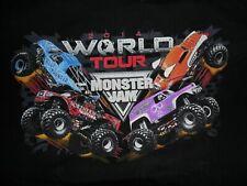 Monster Jam T Shirt 2014 World Tour Med Grave Digger Blue Thunder Monster Mutt