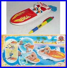 Rare PLAYSET Gadget BUGS and LOLA BUNNY on BOAT from Italy KINDER FERRERO Maxi