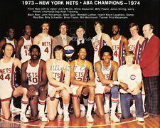 1973-74 NEW YORK NETS ABA BASKETBALL CHAMPS 8X10 TEAM PHOTO DR J JULIUS ERVING
