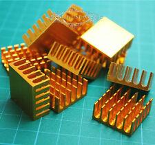 LOTS 100PCS 22*22*10mm Golden Aluminum Heatsink Chip For IC LED Power Transistor
